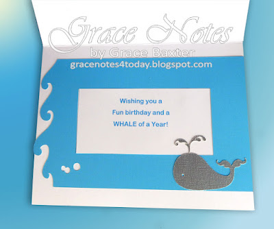 waves frame with birthday verse, designed by Grace Baxter