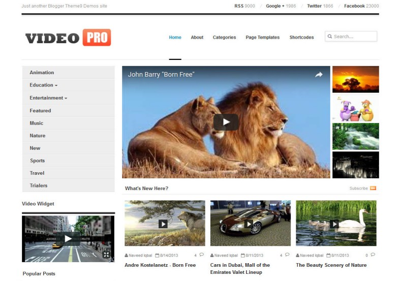 videopro is a best videos blogger template responsive fast loading blogger template videopro is a best blogger template build for online professionals or