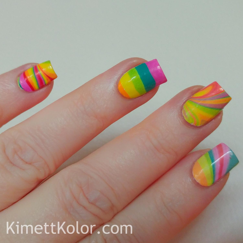 Rainbow Watermarble Skittle Fun | Kimett Kolor