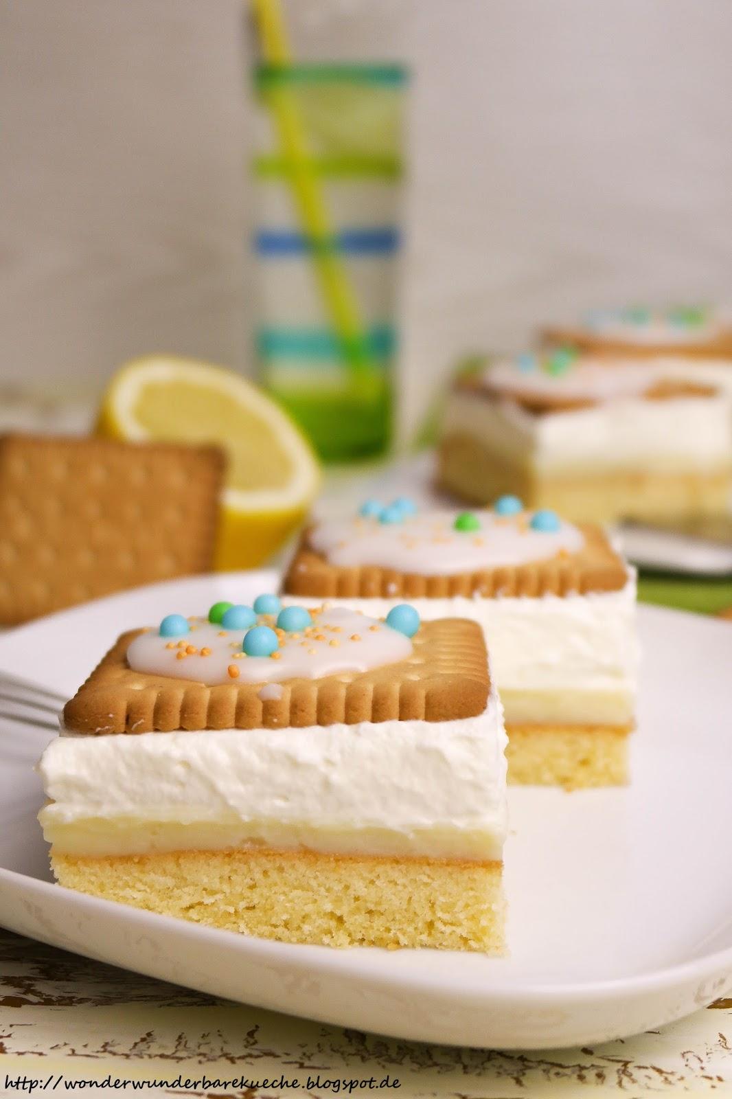 Zitronen Butterkeks Kuchen Vom Blech