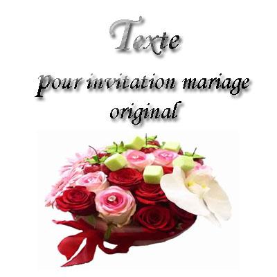 texte pour invitation mariage original invitation. Black Bedroom Furniture Sets. Home Design Ideas