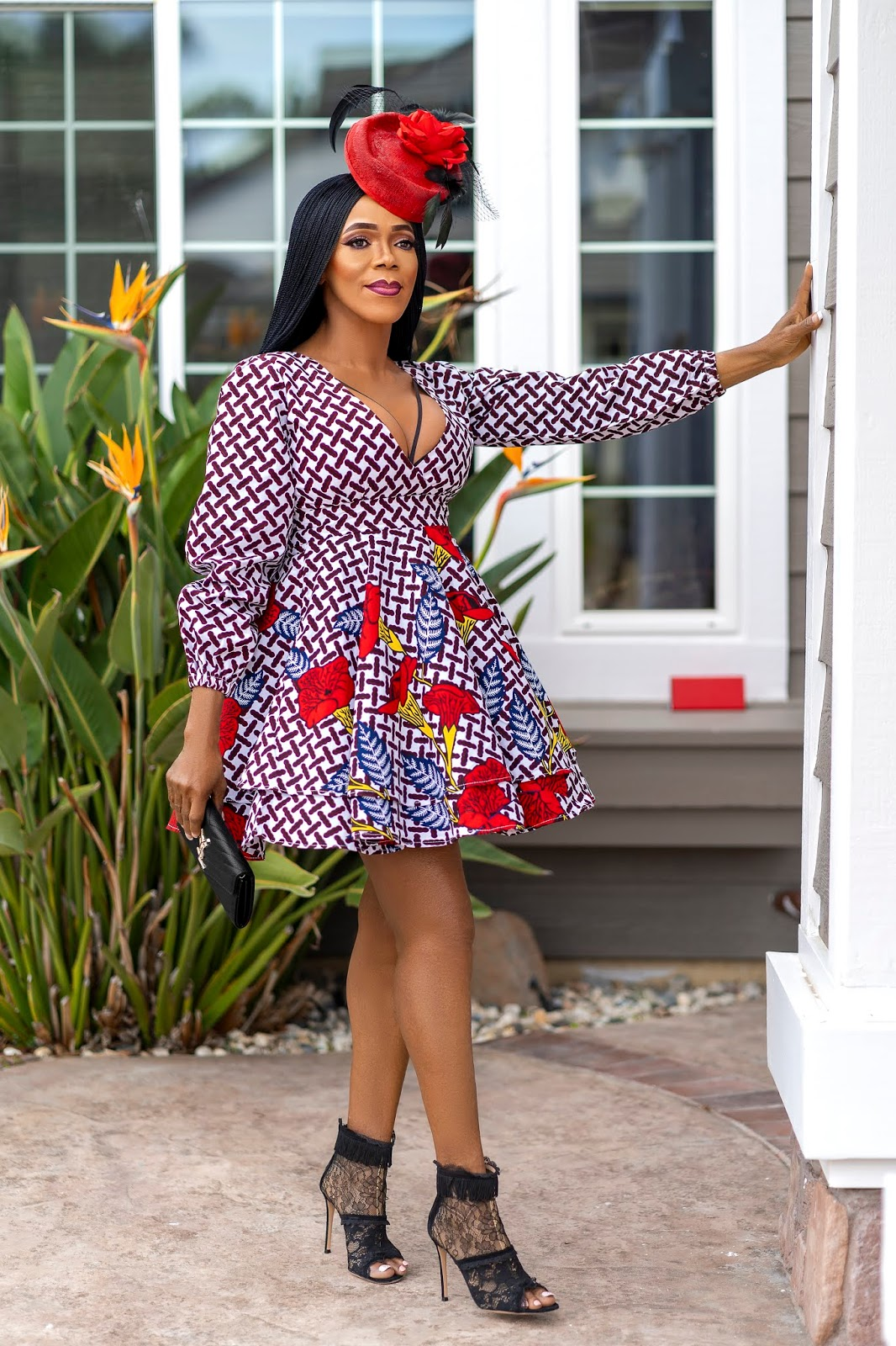 How to Dress Up an Ankara Skater Dress