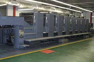 Modern Large Scale Printing Machine