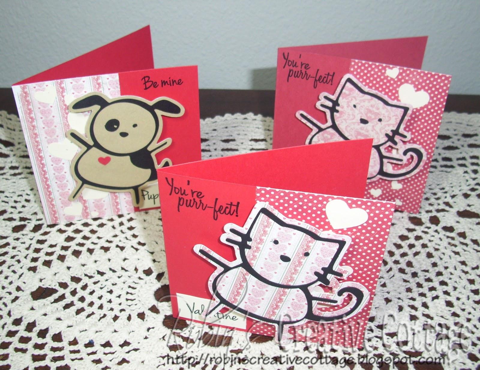 Robin S Creative Cottage Valentine Cards My Craft Spot Project