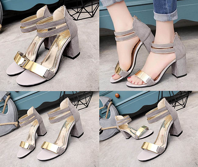 Chunky high heels Korean style ini lebih modis