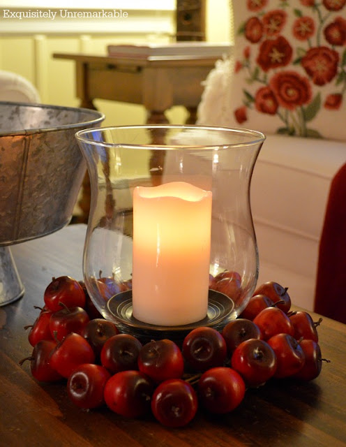 How To Make An Easy Apple Candle Ring DIY by Exquisitely Unremarkable