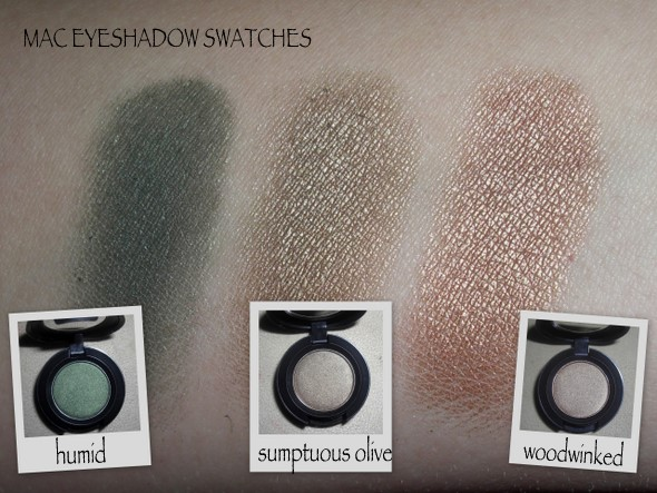 ruolo spazzatura Antagonista  MAC Humid, Sumptuous Olive & Woodwinked Eyeshadows |Makeup and ...