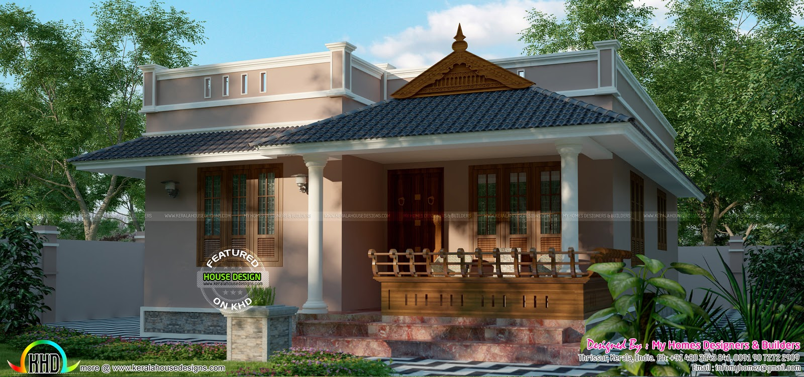 12 lakhs budget kerala home design kerala home design for Kerala house construction plans