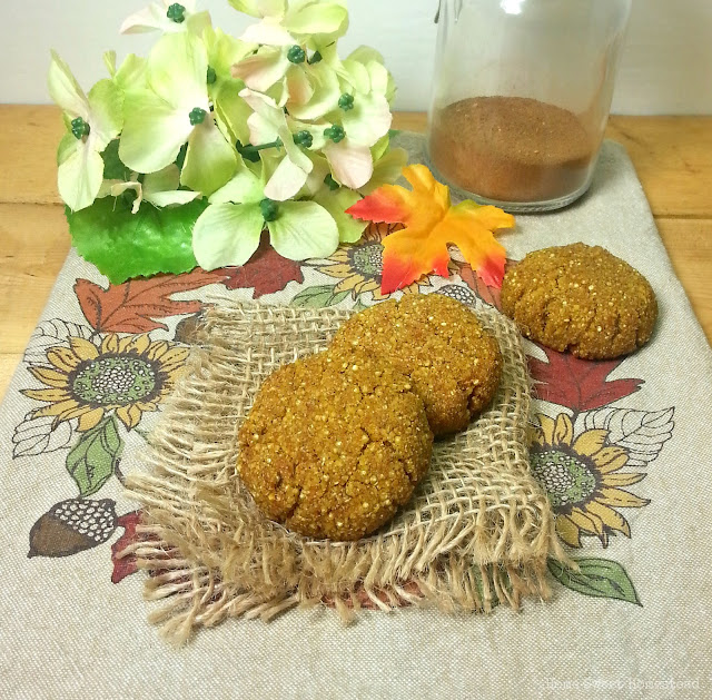 Soft Pumpkin Quinoa Cookies