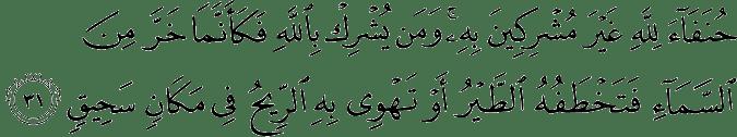 Surat Al Hajj ayat 31