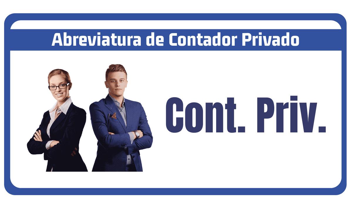 abreviatura de contador privado