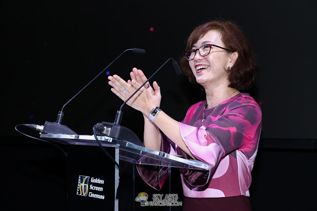 Ms. Koh Mei Lee, Chief Executive Officer of Golden Screen Cinemas Samsung GSC Onyx Cinema LED Screen Launch