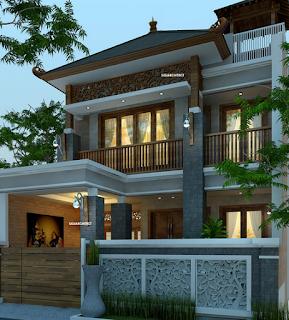 Gambar Desain Rumah Etnik Jawa Modern 5