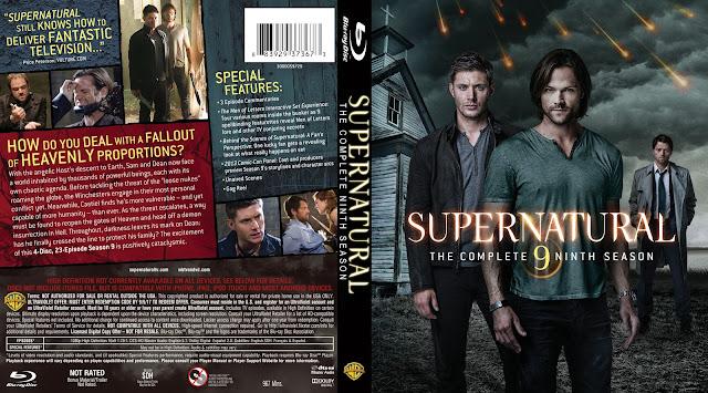 Supernatural Season 9 Bluray Cover