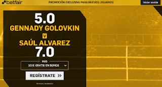 betfair supercuota victoria de Golovkin o Saúl Alvarez 17 Septiembre
