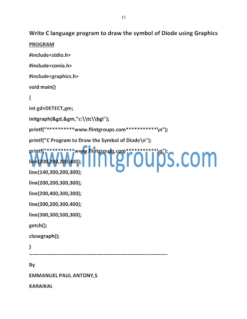 Programs pdf examples with output language c