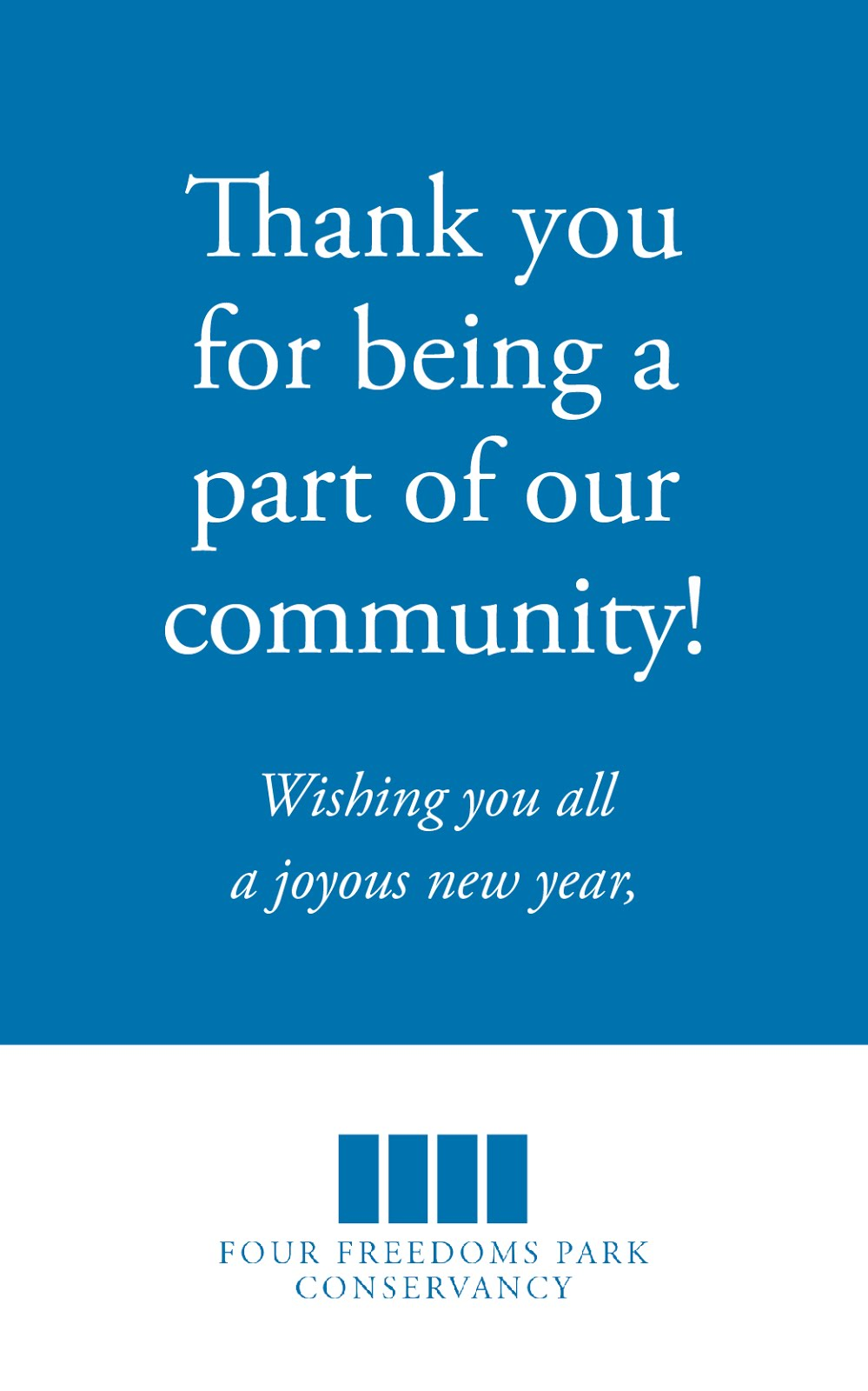 FDR Four Freedoms Park Conservancy Wishing You All A Joyous New Year