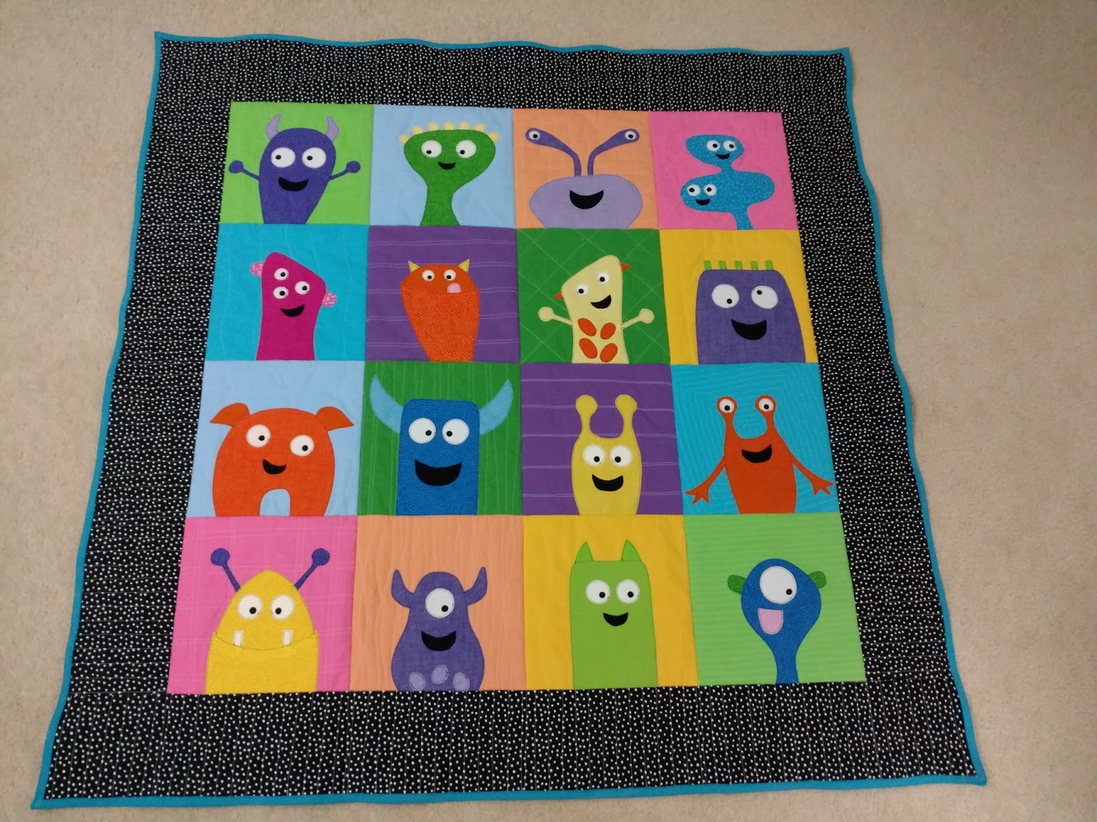 The Crafty Chemist The Monster Quilt