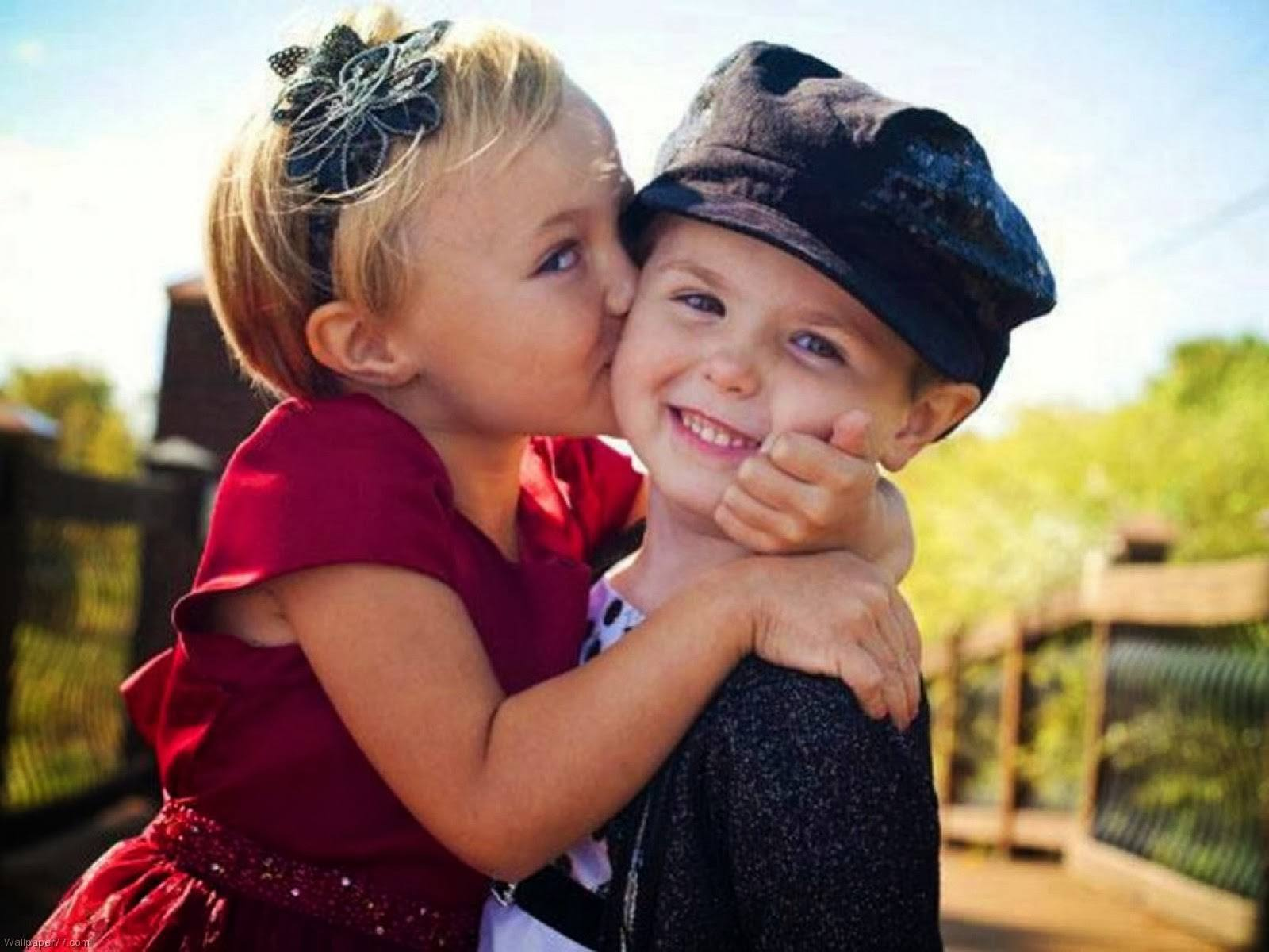 Cutest Children Love kissing HD images