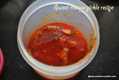 Instant-sweet-mango-pickle