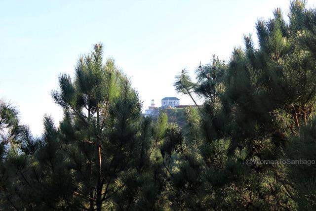 foto de la vista del faro de fisterra
