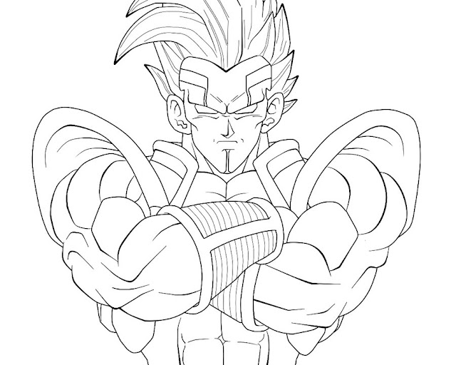 Vegeta Vs Goku Para Colorear