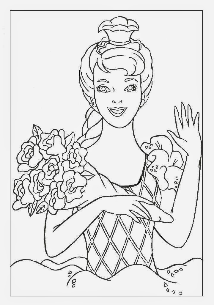 barbie collector printable coloring pages - photo#31