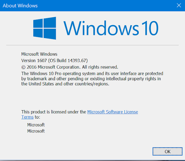 Cập nhật tích lũy KB3176931 cho Windows 10 Insider Preview build 14393