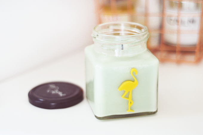 Flamingo Candle in Lemon & Lime Mojito