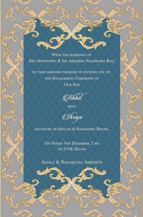 Akhil's Engagement Invite