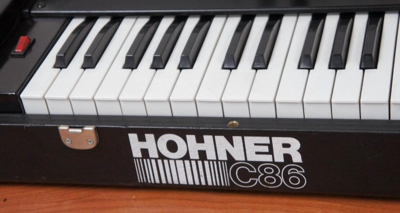 Matrixsynth vintage hohner c86 keyboard synthesizer with for Classic house organ bass