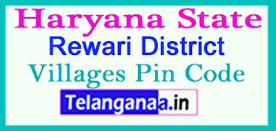 Rewari District Pin Codes in Haryana State