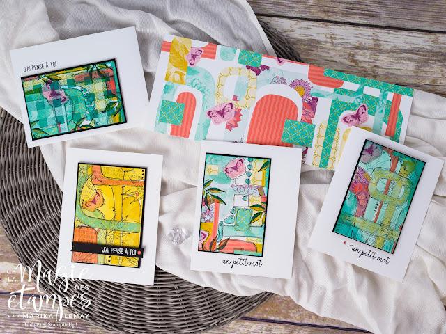 Cartes créées avec du papier design maison Stampin' Up!