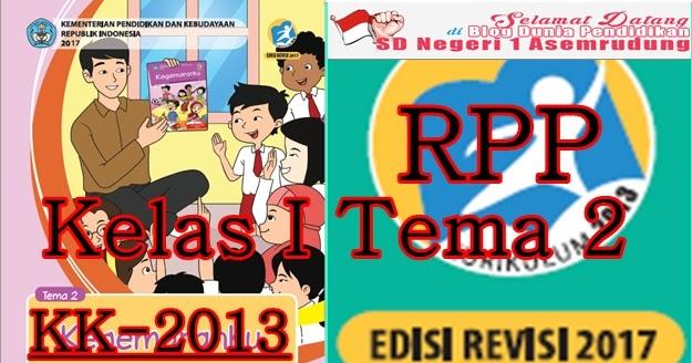 Rpp Kurikulum 2013 Kelas I Sd Tema 2 Revisi Terbaru 2017