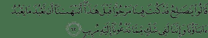 Surat Hud Ayat 62