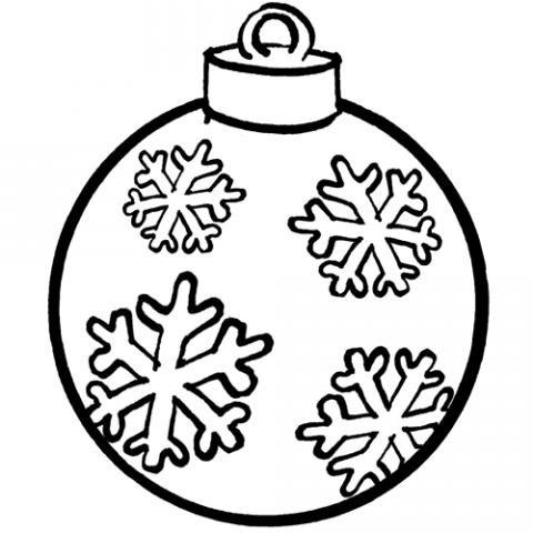 Las Imagenes de Navidad: Dibujo de Navidad para colorear : bola con ...