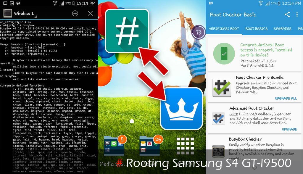 Rooting Samsung S4 (GT-I9500)