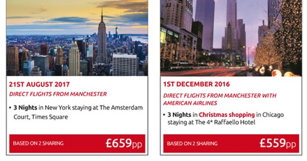 New York, Chicago, Las Vegas, and Orlando. More USA Offers - including Flights