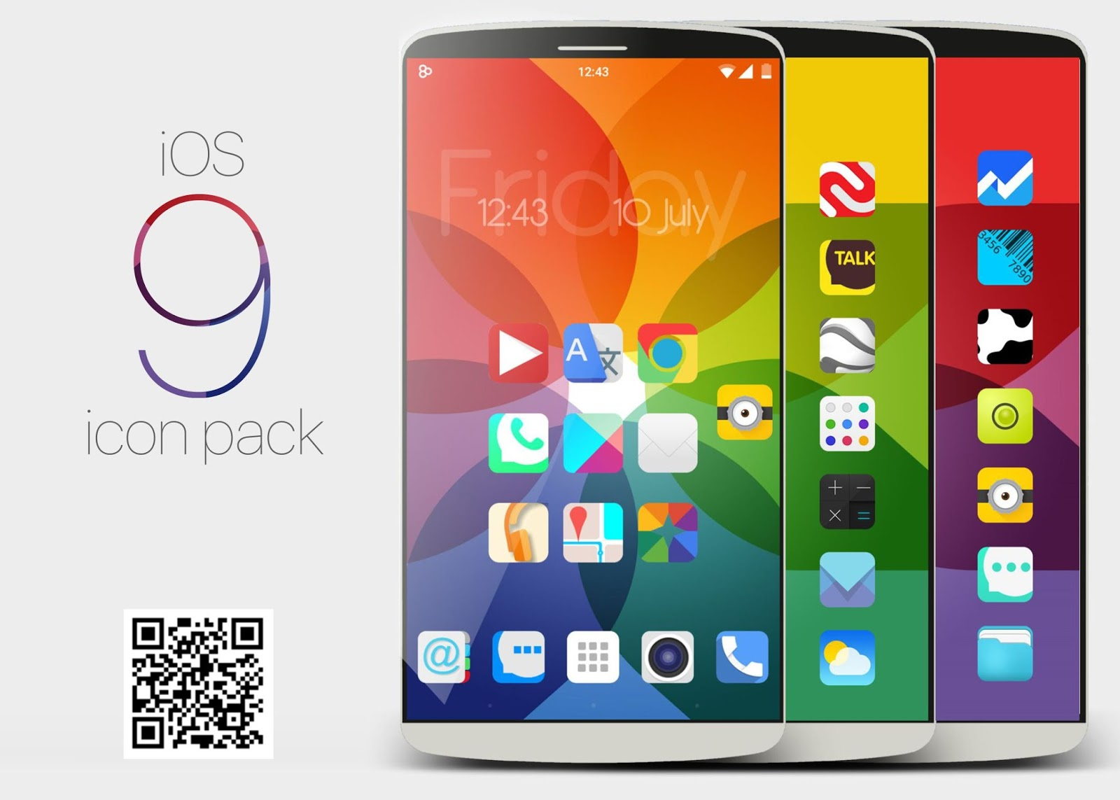icon pack Android: Iphone ios9 Concept Theme to Android icon pack