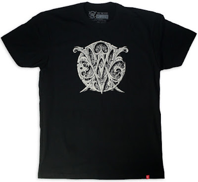 The Vacvvm Logo Crest Black T-Shirt by Aaron Horkey