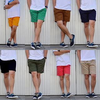 กางเกงขาสั้นชายผ้าฝ้าย