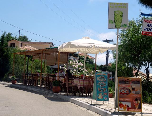 Roadside cafe taverna Athani Lefkada