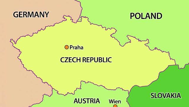 Gambar Peta Batas Negara Ceko