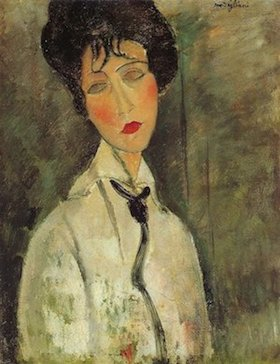 Amedeo Modigliani, woman black tie