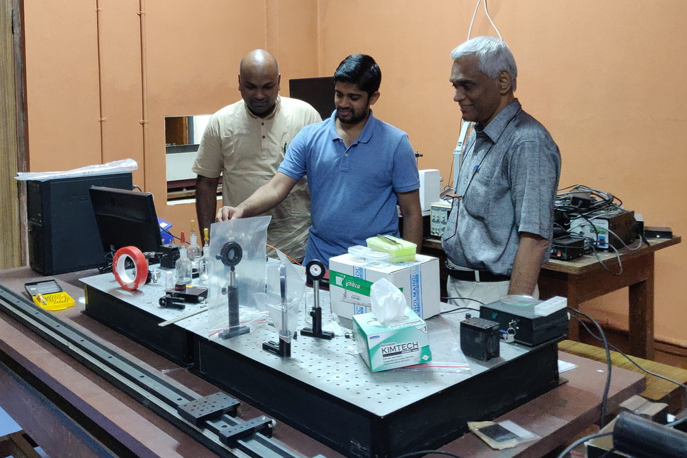 Mr. Venkata Siva Gummaluri, PhD Research Scholar,Dr. Sivarama Krishnan, Assistant Professor, Physics Dept, & Prof C. Vijayan, Physics Dept, IIT Madras