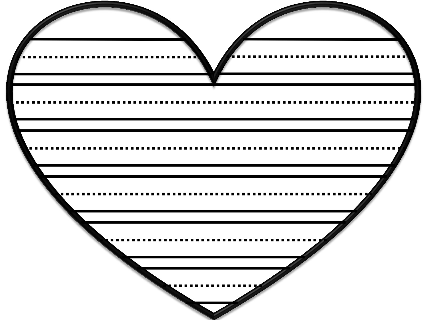 Valentines Day Heart Writing Paper Quotes