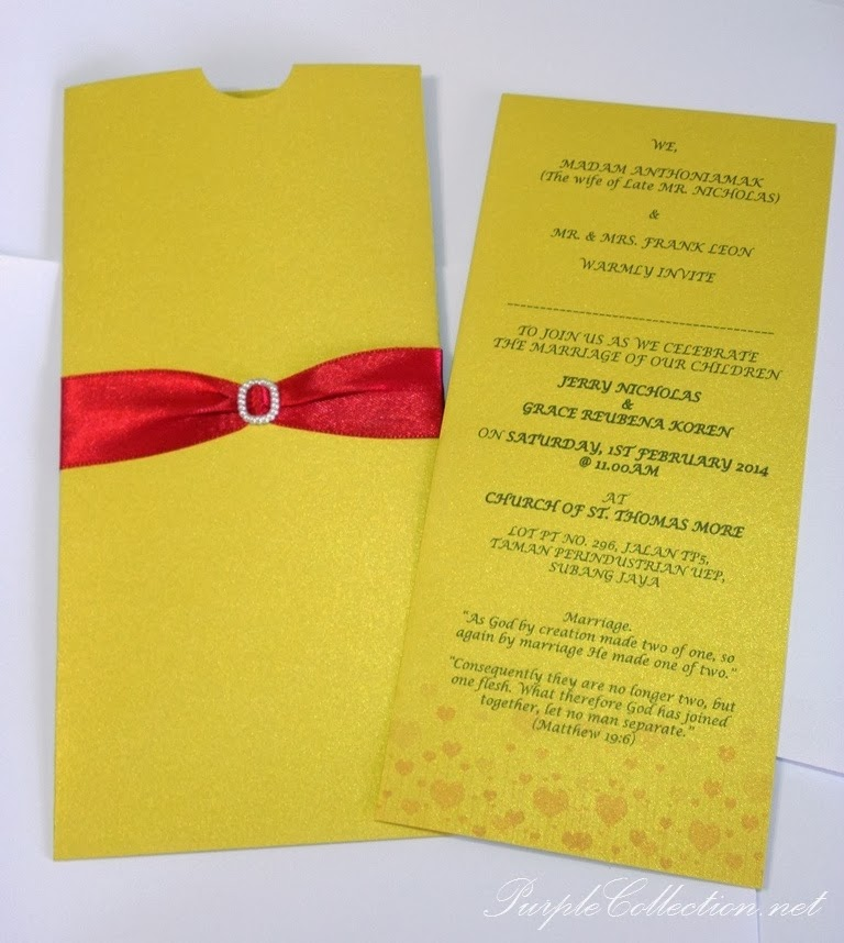 pearl gold, red satin ribbon, pearl buckle, petaling jaya, wedding card, G0579, church of St. Thomas More, marriage, red card, selangor, church, reception, dinner, indian, tamil, western, chinese, malay, kad kahwin murah, kuala lumpur, malaysia, envelope 80g, envelope 120g, sampul surat, online, sale, modern design, unique, elegant