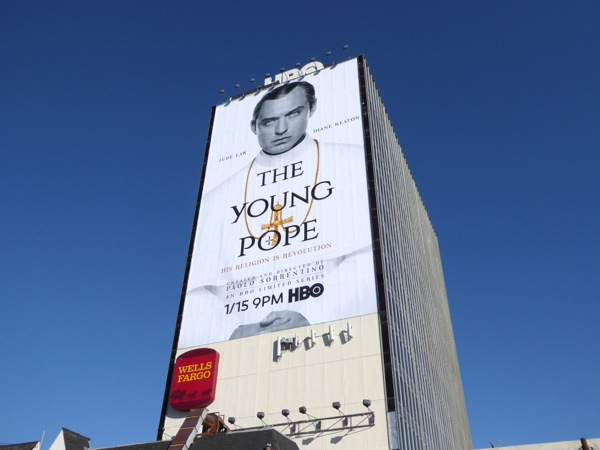 Young Pope giant HBO billboard