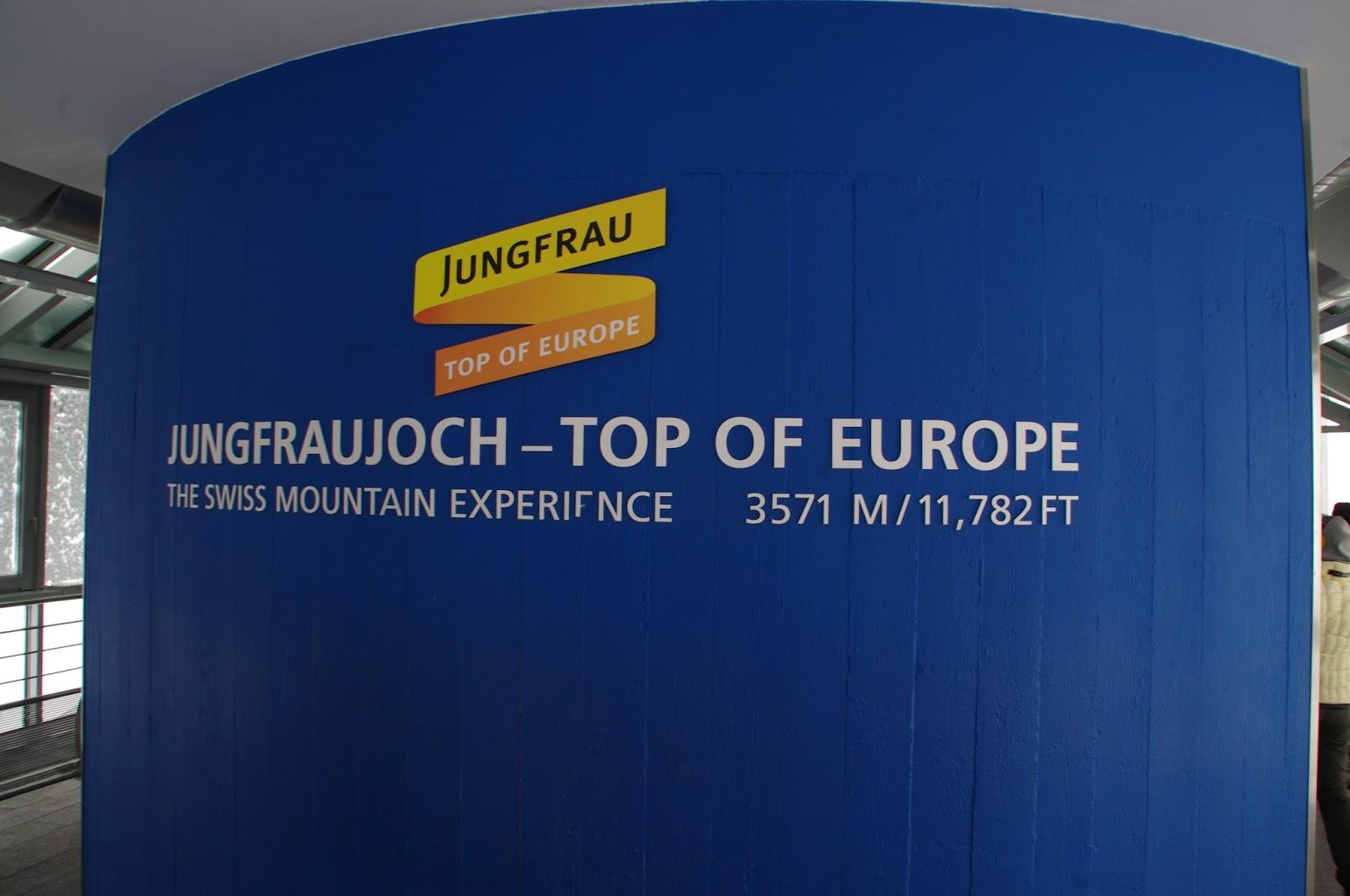 Jungfraujoch Top of Europe Sign