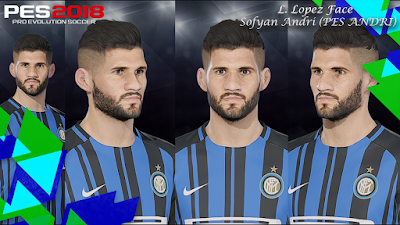PES 2018 Faces Lisandro Lopez by Sofyan Andri